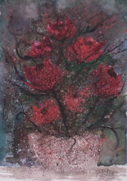 roses flower painting