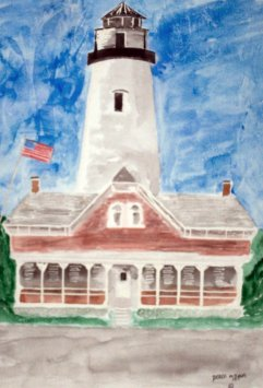 st simons lighthouse watercolor painting