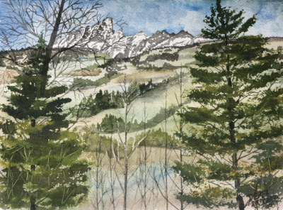 Grand Teton National Park painting