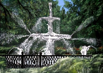 forsythe park fountain painting