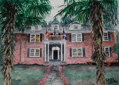 fraternity house painting