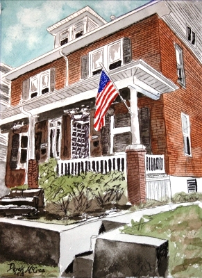 house watercolor paintings