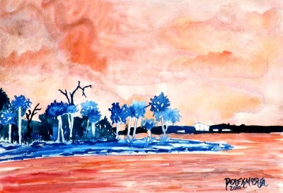 island art tropical painting