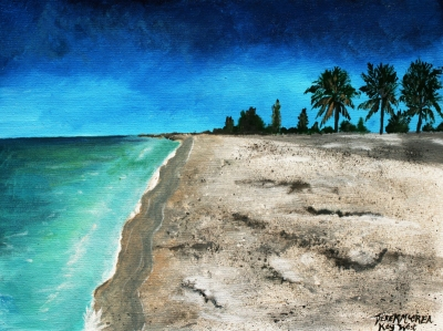 acrylic beach painting