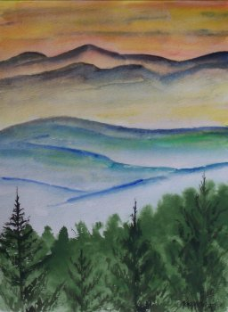 blue ridge mountains landscape painting