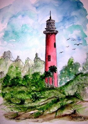 jupiter lighthouse painting