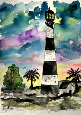 lighthouse art gift