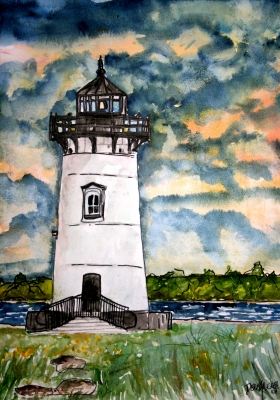 lighthouse watercolor paintings