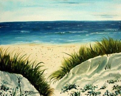 oil beach painting