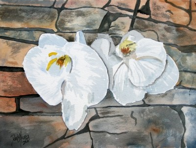orchids flower painting