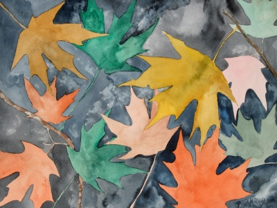 paintings of leaves