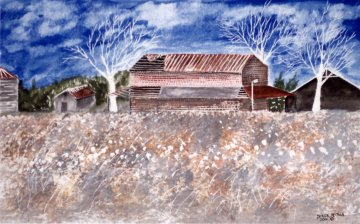 paintings of barns