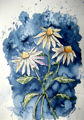 daisies flower painting