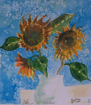 sunflowers flower art