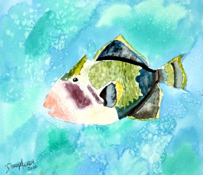 trigger fish painting