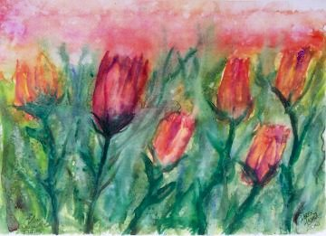 tulips flower painting