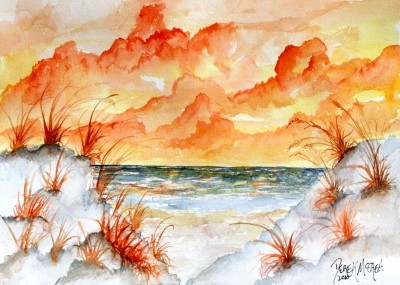 watercolor beach paintings